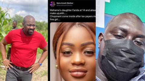 """""""You are a stup1d f00l"""" – John Dumelo descends on NPP communicator who made s3xual jokes about Mahama's daughter, Farida Mahama [Details]"""