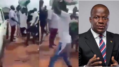 """""""We need jobs, take your rice away"""" – Angry Damongo youth reject bags of rice sent to them MP Abu Jinapor [Video]"""