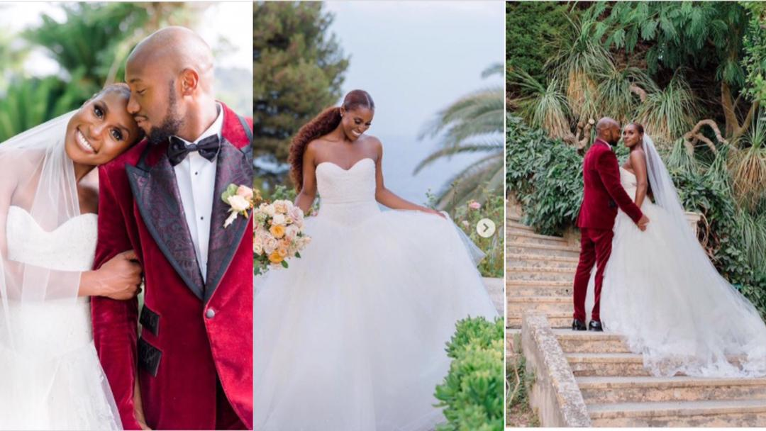 American actress, Issa Rae takes a final bold step at age 36, marries fiancé Louis Dame in France [Photos]