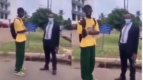 """""""You're a superstar and so what? Go and read for your upcoming test"""" – Black Sherif humbled by lecturer, advised to stop wearing earrings [Video]"""