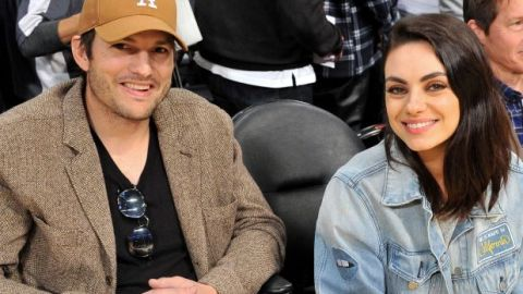 """'We do not bathe our children daily because we do not believe in bathing"""" – American actor Ashton Kutcher & wife, Mila Kunis reveal"""