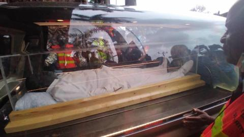 Check out photos of the body of Prophet TB Joshua laid to rest in a transparent casket