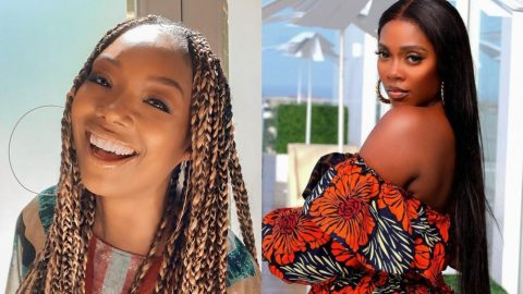 Moment American singer Brandy reacted to a photo of Tiwa Savage after she was potted holidaying in Ghana