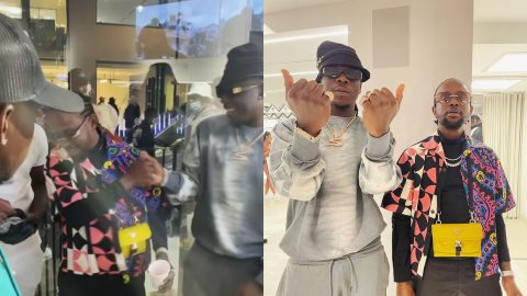 What A Vibe – Popcaan In An Excited Mood During His Link Up With Stonebwoy (video)