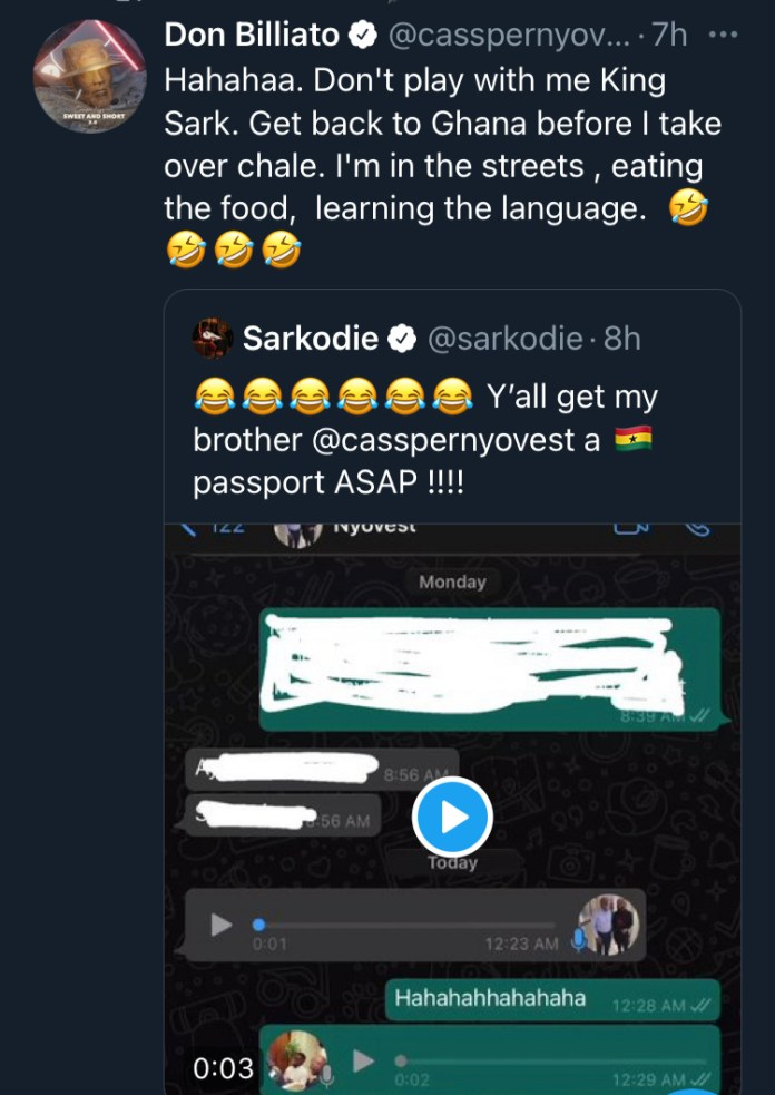 So Your Whatsapp Works? – Dee Money Quizzes Sarkodie After Seeing His Chat Online. 49