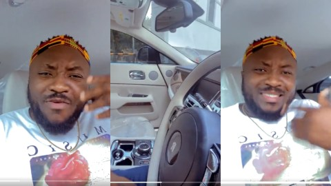 DKB Breaks Down After Getting The Chance To Sit Inside His Friend's Rolls Royce Whip For The First Time [Video]