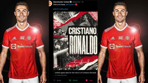 Manchester United's announcement of Cristiano Ronaldo becomes the Most Liked tweet in 1 hour with over 1.3M likes