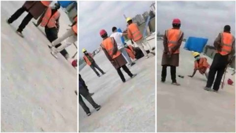 Uproar as a Chinese contractor orders Kenyan casual workers to be whipped (Watch)