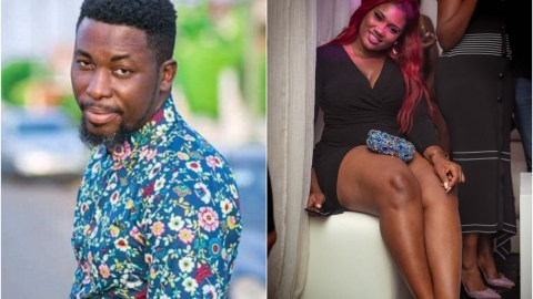 'Stop fooling before I slap the madness out of your system, God made man and woman to 'chop' each other- A Plus shuts out Abena Korkor, heaps fire on her head (Watch)