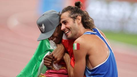 Tokyo2020: Friends Shares Gold Medal In The Men's High Jump Final.