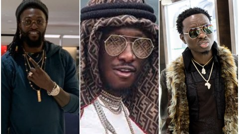 Despite the ban on clubbing, Ghanaian millionaire Cheddar storms club with his dog to have fun with Adebayor, other rich friends (Watch)