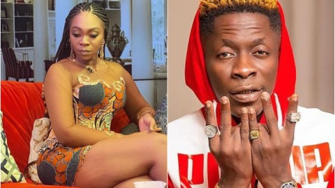 Time for Shatta Michy to get jealous as Shatta Wale unveils his beautiful new girlfriend given to him by Medikal (Photos)