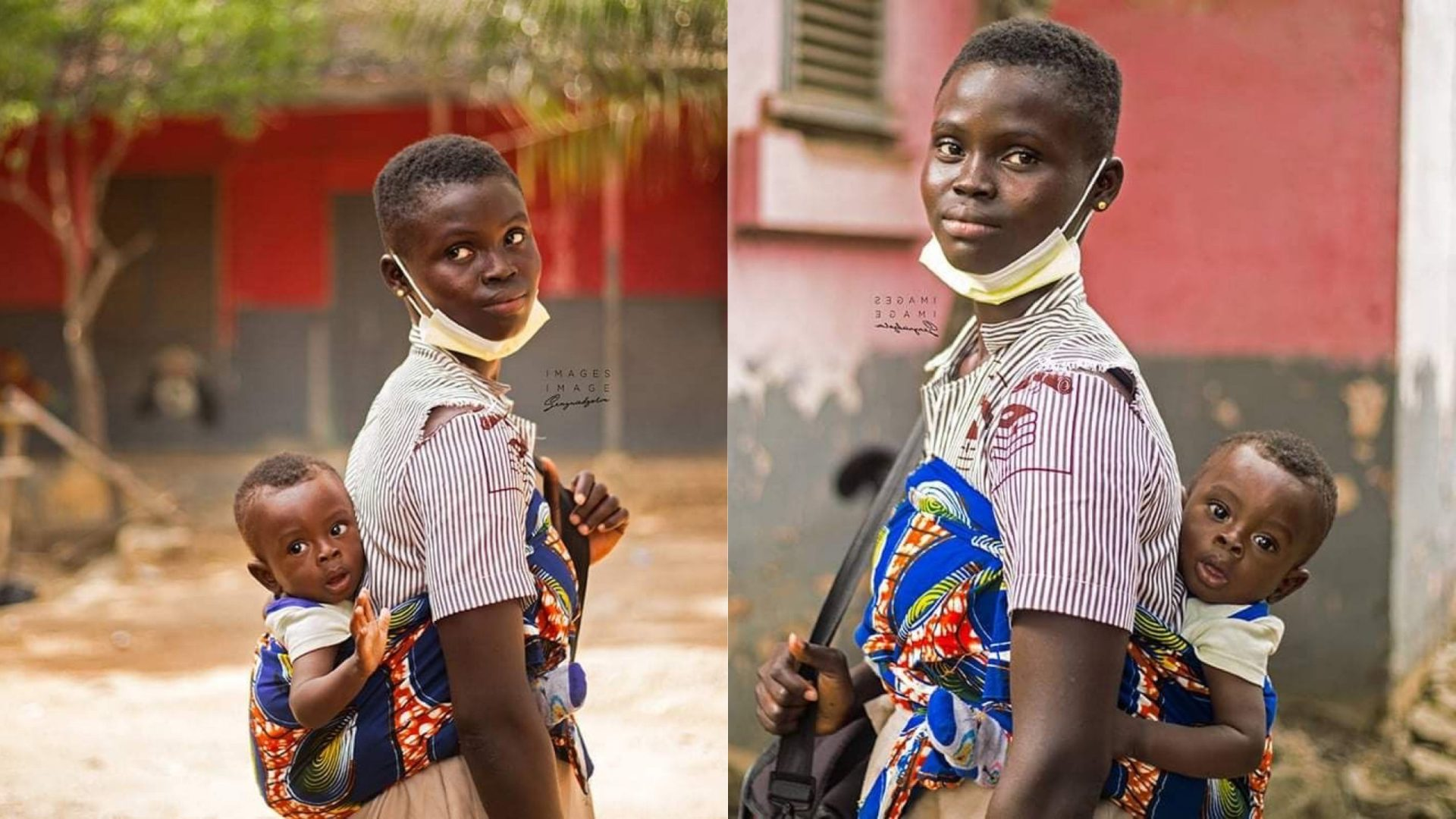 Rita Awuni: The touching story of a 17-year-old orphan who is schoolmates with her 10-month-old son