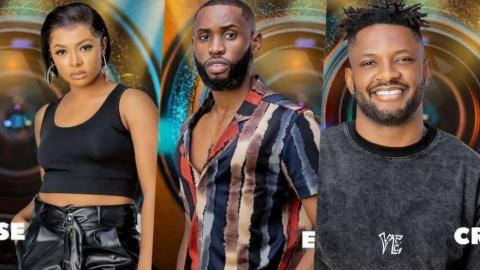 """BBNaija 2021: """"I Will Punch You, If You Touch Liquorose Or Sniff Her Perfume"""" – Emmanuel Warns Cross"""