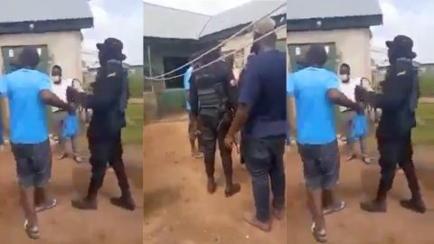 Police whip and manhandle man after he was caught tapping electricity illegally [Video]