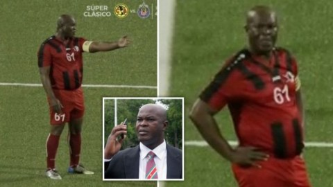 Ronnie Brunswijk: The Suriname Vice President Who Is 60, Played And Captained The Team He Owns & Ended Up Losing The Game [Video]
