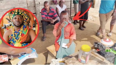 Disabled shoemaker breaks down as Osebo gifts him 4,000ghc plus motorbike