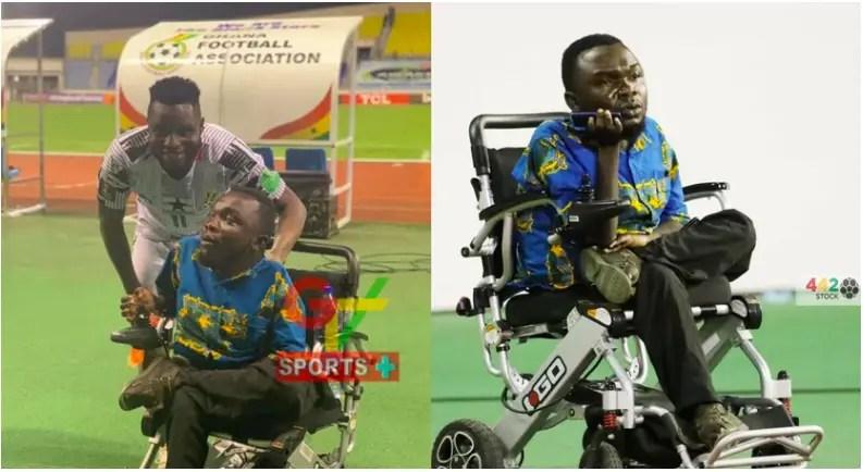 Mubarak Wakaso donates electric wheelchair to King Baggio