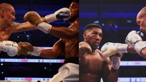Photos: Anthony Joshua loses heavyweight title to Oleksandr Usyk after he beat him 'roff roff' in London