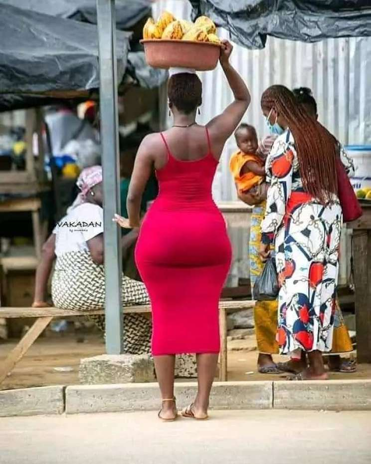 curvy lady selling cocoa on the streets