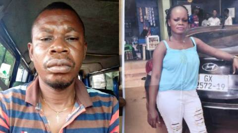 Gomoa Akropong: Woman allegedly k!lls husband after he received a call from his baby mama