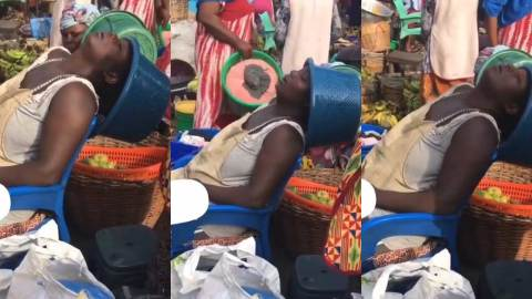 Netizen shares video of a hustling mother as the reason why you should always send her money instead of slay queens