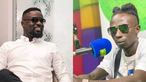 (+VIDEO) Patapaa loses his cool again, insults Sarkodie and his wife in a live radio interview