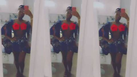 Princess Shyngle shows too much flesh as she displays raw chest in hot bedroom video
