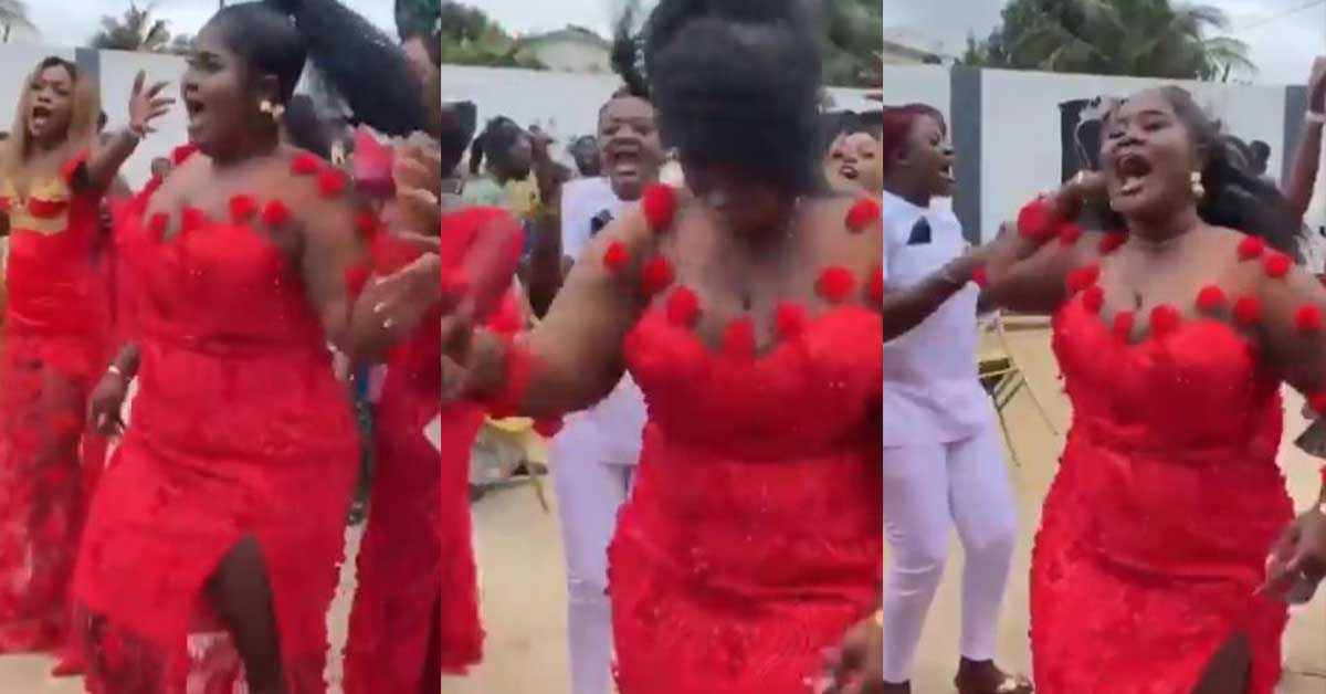 Beautiful bridesmaids show massive energy as they jam and sings Black Sherif's 'Second Sermon' word for word