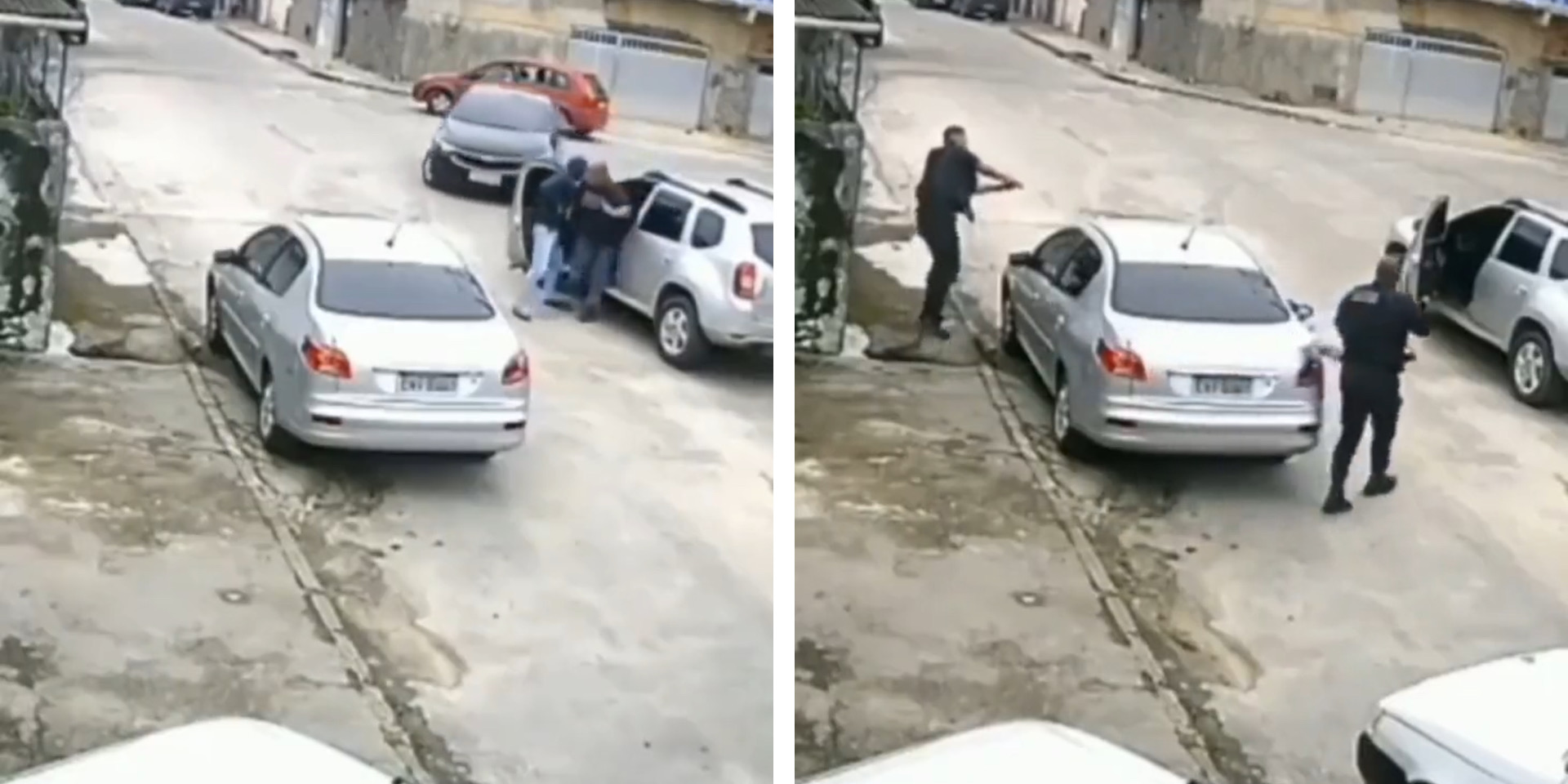Car thieves arrested after failing to drive away an SUV they snatched [Video]