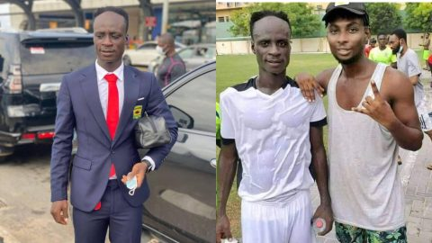 Dickson Afoakwa: 23-year-old Ghanaian footballer poses with fan he is younger than