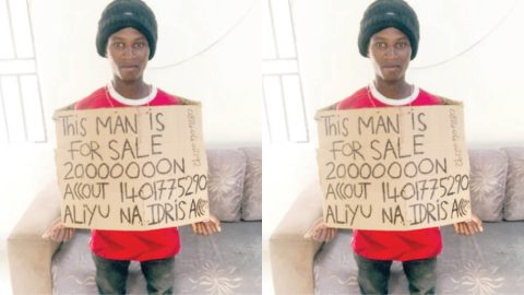 Man puts himself up for sale due to hardship