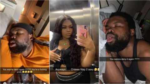 Lady embarrasses man on social media after he denied sleeping with her with video and photos evidence