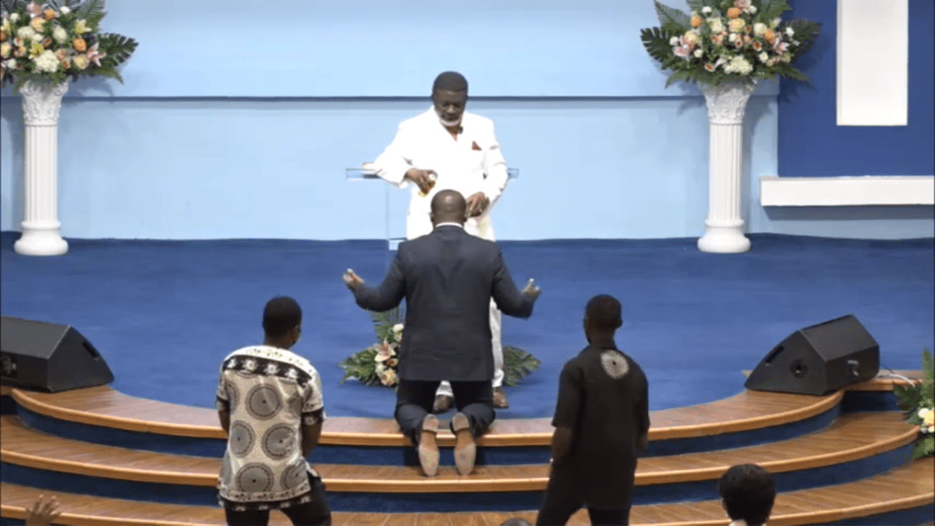 Bishop Charles Agyinasare anoints Sam George, tasks him to keep fighting for the passing of the Anti-LGBTQ Bill [Video]
