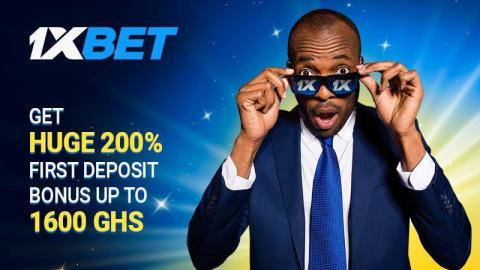 1xBet Gives You the Biggest Welcome Bonus in Ghana – 200% up to 1600 GHS!