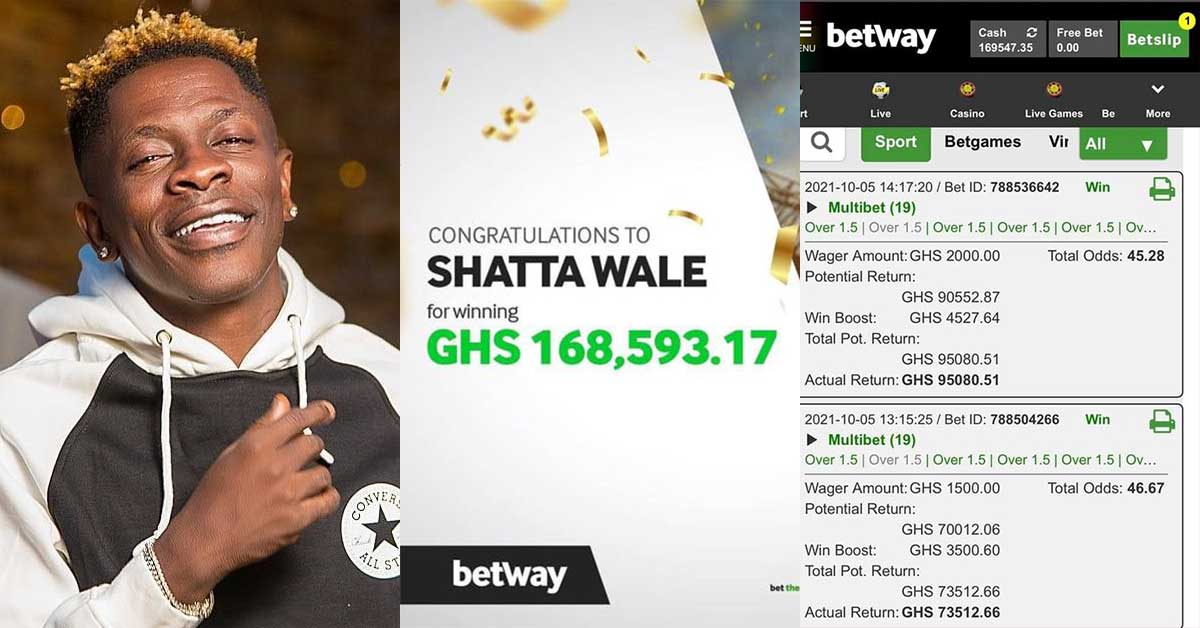 Betway and Shatta Wale exposed for allegedly conniving to 'fake' the Ghc170k bet slip win