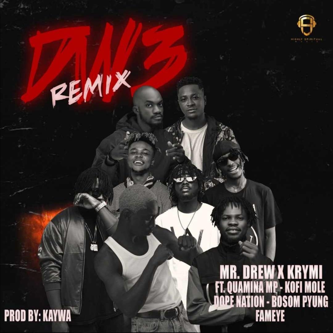 Here is Mr Drew X Krymi – Dw3 Remix Ft. Kofi Mole,Quamina MP, Dopenation,Bosom P-Yung & Fameye. Click to download and enjoy.
