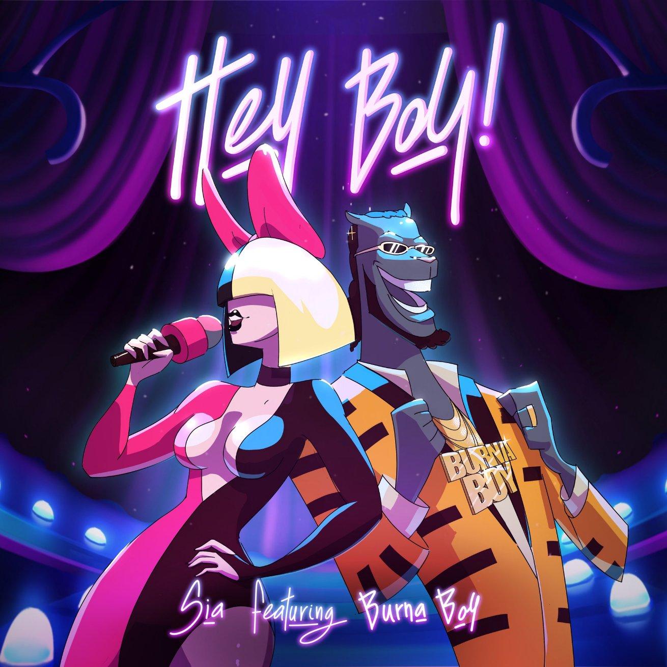 Sia - Hey Boy Remix ft Burna boy