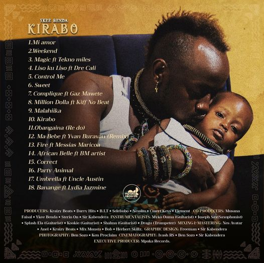 YKee Benda - Kirabo Full Tracklist