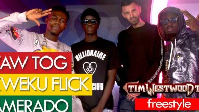 Photo of Amerado, Yaw Tog & Kweku Flick's Freestyle At Tim WestWood TV