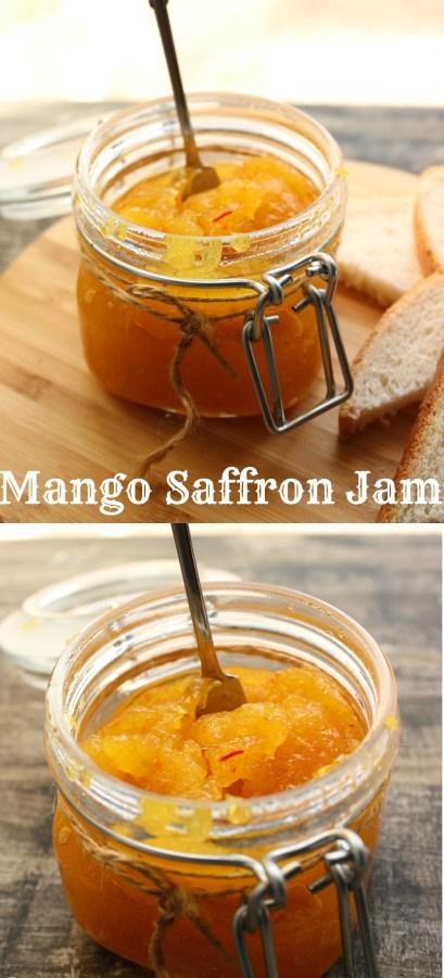mango saffron jam