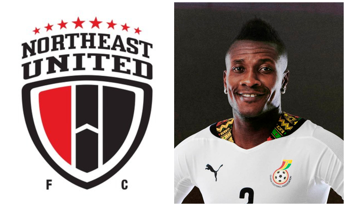 Image result for images of Asamoah Gyan joins Indian club NorthEast United