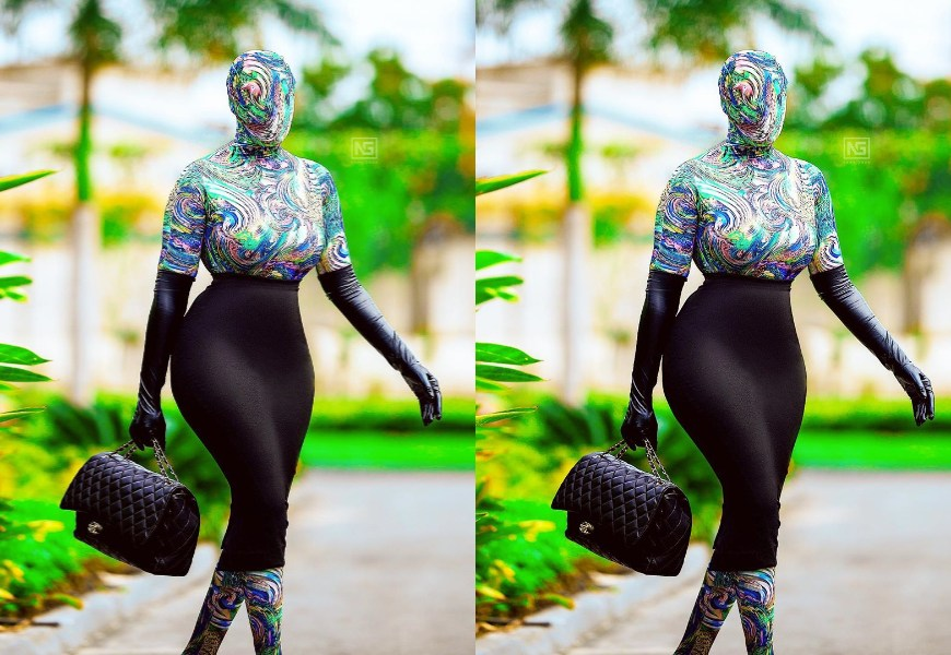 PHOTOS: Nana Akua Addo Once Again Shows Fashion Is Her Thing As She Goes The 'SPIDER WAY' To Glitz Fashion Week