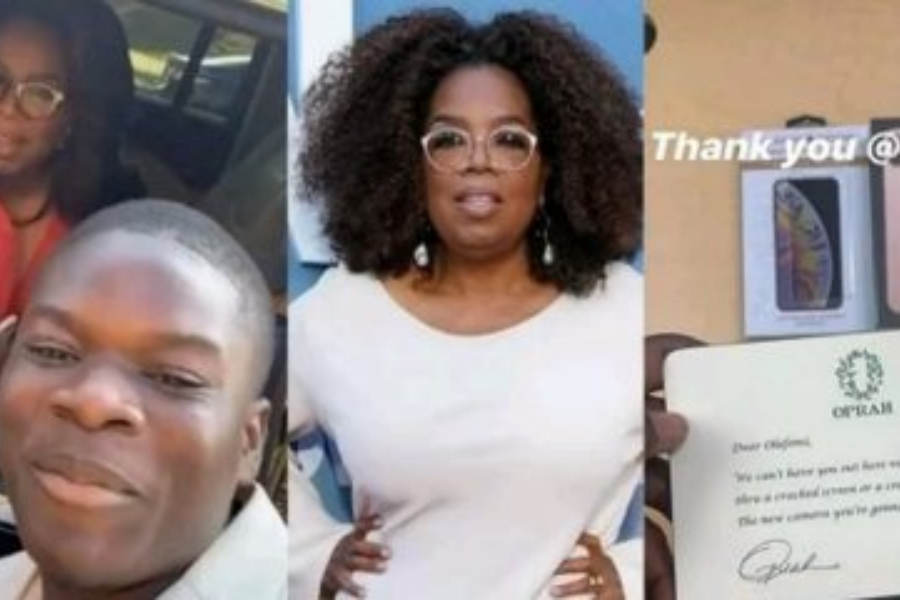 Oprah Roasts Fan's Cracked Phone Before Gifting Him A New One