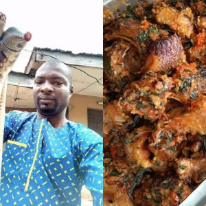 PHOTOS: Young Guy Prepares Snake Stew With Snake He Killed In His House