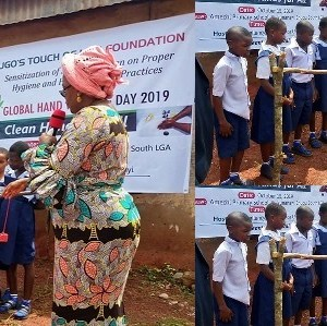 First Lady Of Enugu State In Nigeria Commissions Tippy Taps For Primary Pupils (+Photos)