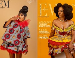 Mercy Eke featured on the cover of Exquisite Magazine