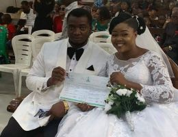 Couple ties knot with any reception