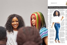 Akuapem Poloo featured in newspaper
