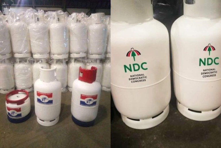 NPP and NDC to share gas cylinders